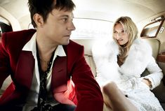 Jamie and Kate channel a modern-day Mick and Bianca Jagger, re-creating the couple's 1971 backseat wedding portrait by royal photographer Lord Lichfield.