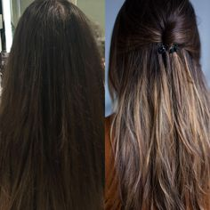 Before After - New balayage ombre hair