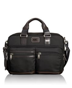 From our Bravo collection of soft, unstructured and more casual business and travel designs comes this slim and well-organized commuter brief that expands the packing capacity to a greater degree. It offers a dedicated laptop compartment and another compartment for accessories and files. Features an iPad pocket and numerous interior and exterior pockets. Top carry handles and a removable, adjustable shoulder strap.