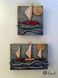 55 Awesome Paper Mache Ideas to Make DIY Crafts Easily at Home Clay Fish, Ceramic Fish, Ceramic Clay, Polymer Clay Tools, Polymer Clay Projects, Diy Clay, Clay Wall Art, Clay Art, Clay Crafts For Kids