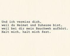 *Und Ich Vermiss Dich, Weil Du Heimat Und Zuhause Bist...* - Philipp Poisel/Halt Mich