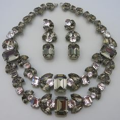 A Vintage 1950's Roger Jean-Pierre Rhinestone Necklace Set.