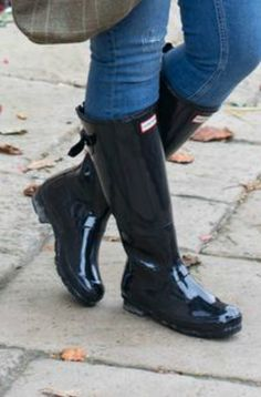 Wellies Rain Boots, Hunter Wellies, Hunter Boots, Black Rubber, Toddler Outfits, Jeans And Boots, Rubber Rain Boots, Strong, Style Inspiration