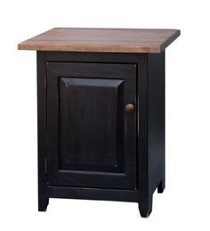 NIGHTSTAND END TABLE Amish Handmade Shaker Wormy Maple Bedroom Stand w Storage
