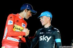 2014 vuelta-a-espana photos - Alberto Contador (Tinkoff - Saxo) and Christopher Froome (Team Sky) rebounded well from their Tour de France abandonments Pro Cycling, Rebounding, Bmx, Stage, 21st, Tours, Sports, Photos, Jackets