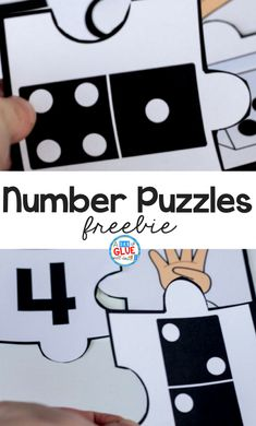 Your students are going to LOVE using these number puzzles in your math center! Perfect for little learners who are just being introduced to numbers. Number Puzzles, Maths Puzzles, Puzzles For Kids, First Grade Freebies, Kindergarten Freebies, Learning Numbers, Fun Learning, Phonics Activities, Counting Activities