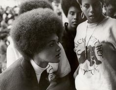 Stephen Shames, Kathleen Cleaver, Communications Secretary for the Black Panther Party, Talks with Other Party Members Before a Free Huey Rally in DeFermery Park 1968