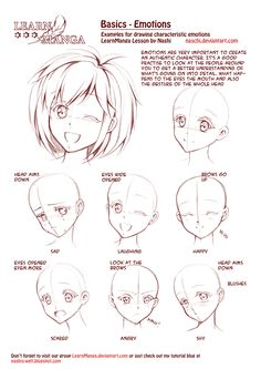 Anime Manga Emotion Illustration Reference Photo Tutorial