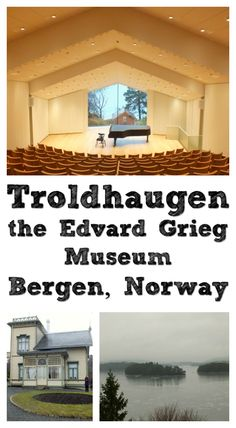 Troldhaugen, the Edvard Grieg Museum overlooks the fjord at Bergen, Norway. You can listen to the music of the 19th century composer in a lunchtime concert, or take a guided tour of his villa.