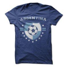 fa0a7343d Argentina Soccer T-Shirt Argentina Soccer, Argentina Team, Cool Tees, Cool T