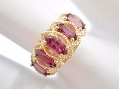 SALE! 14k Yellow Gold Marquise Shaped Rhodolite Garnet Ring Sz 6.75 #1265 Check out this item and more at mmjewelersknoxville on eBay!