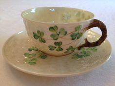 Belleek tea set is perfect for Irish breakfast tea on St. Patrick's Day!