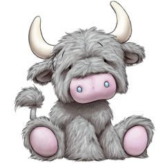 Smoo the Highland Cow - Tatty Teddy Friends Tatty Teddy, Teddy Bear, Cute Images, Cute Pictures, Animal Drawings, Cute Drawings, Cartoon Mignon, Baby Animals, Cute Animals