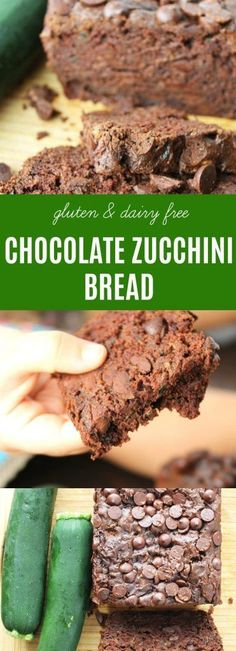 Chocolate Zucchini Bread | This easy Chocolate Zucchini Bread recipe is moist, chocolatey, & lightly sweetened with unrefined coconut sugar. It hides the vegetable so well you won't know you are eating it! {Gluten & Dairy Free} | thenourishedfamily.com