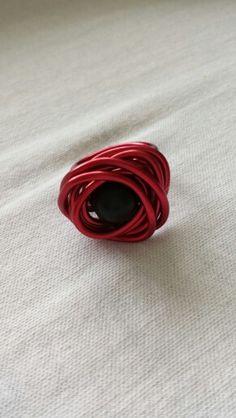 Rode aluminiumdraad ring