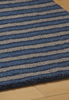 #HookandLoom Metropolitan Stripe Eco Cotton Loom-Hooked Rug Outdoor Carpet, Rug Hooking, Loom, Latex, Hand Weaving, Plush, Rugs, Cotton, Loom Knitting