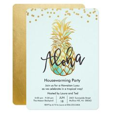 Housewarming Aloha Luau Party Invitation Custom order #silver #wedding #invitations Make your day special with these #Elegant #weddinginvitations #party #cards #simple #weddingstationary
