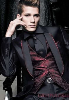 Modern Mafia Looks - You Don't Want to Mess With the Carlo Pignatelli Spring 2011 Collection (GALLERY) High Fashion Men, Suit Fashion, Mens Fashion, Fashion Clothes, Style Fashion, Gothic Fashion Men, Steampunk Fashion Men, Fashion Ideas, Classy Fashion
