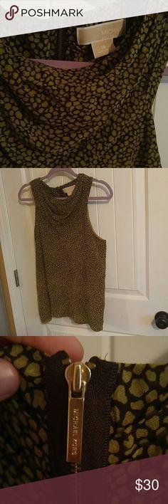 MICHAEL Michael kors blouse No sleeves Gold tone zipper on back MICHAEL Michael Kors Tops Blouses