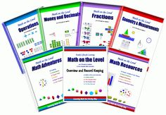 Math on the Level - Pre-K through Pre-Algebra, with great tools for helping you keep track of each child's progress.