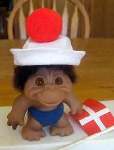 1960s' Dam Baby Monkey Troll with Little Noahs Ark Monkey BFF | eBay