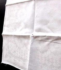 Damast linnen servetten 7x Roos no.509 ontwerp Chris Lebeau 1905 uitvoering E.J.F.van Dissel Zn Eindhoven