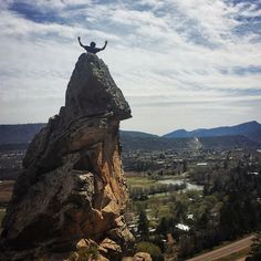 King of the world! This is the top of X Rock just outside Durango, Colorado.  A popular spot for our local mountain climbers
