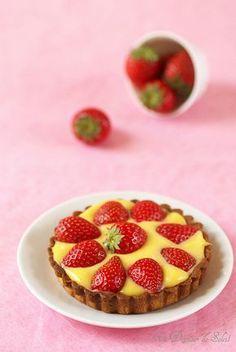 Tarte aux fraises et fruit de la passion pour la fête des mères
