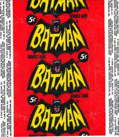 The Amazing 1966 'Batman' Trading Cards by Norman Saunders ...