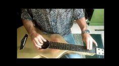 Brass Weissenborn Style Acoustic Lap Steel Guitar