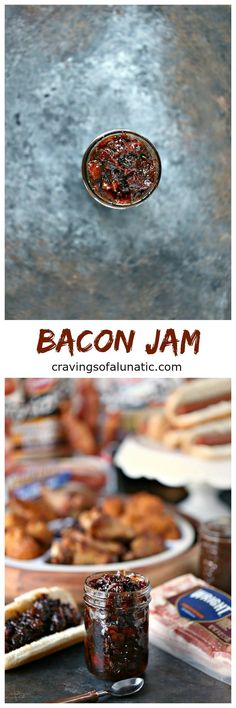 Bacon Jam from cravingsofalunatic.com- This easy recipe for Bacon Jam is perfect for all your tailgating needs. Chock full of bacon, onion, garlic and sweet heat. This is a must make for game season! #sponsored #fanfoodleague