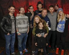 Supernatural Writers and Extended Family with the Boys at Burcon 2013