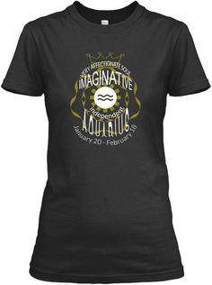 Aquarius Black T-Shirt Front