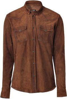 Balmain Shirts for Men Fashion 101, Mens Fashion, Cowboys Shirt, Collar Top, Western Shirts, Brown Suede, Casual Shirts For Men, Balmain, Leather Jacket