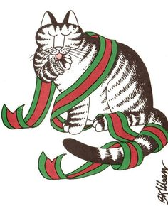 B.Kliban Cat Christmas card, 1980