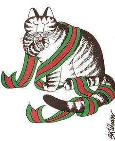 B.Kliban Cat Christmas card, 1980
