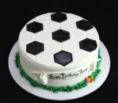 Children's You are in the right place about Soccer Cake cream Here we offer you the most beautiful p Soccer Birthday Cakes, Birthday Cake For Him, Soccer Ball Cake, Soccer Cakes, Football Cakes, Real Madrid Cake, Sport Cakes, Cake Gallery, Holiday Cakes