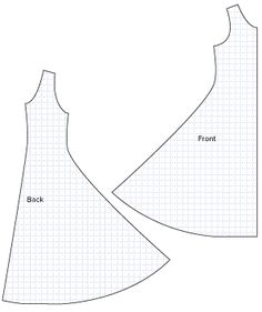 Diagram of Sewing Pattern Pieces for the Jersey Flare Dress. This would be easy to do as a reversible pattern. Dress Sewing Patterns, Sewing Patterns Free, Free Sewing, Sewing Tutorials, Sewing Hacks, Sewing Crafts, Sewing Projects, Pattern Sewing, Easy Dress Pattern