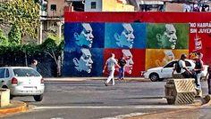 Painel de Hugo Chaves em Caracas