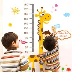 Removable Giraffe Height Chart Measure Wall Sticker Decal for Kid's Baby Room Wall Stickers Giraffe, Baby Room Wall Stickers, Flower Wall Stickers, Cartoon Giraffe, Height Chart, Giraffe Pattern, Baby Nursery Decor, Vinyl Art, Kids