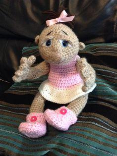 My Crochet Amigurumi Baby , from a pattern I purchased online , so cute Baby   http://www.tericrewsdesigns.com/