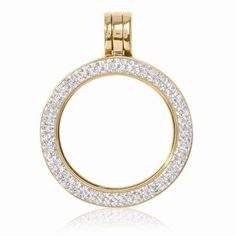 NEW NIKKI LISSONI GOLD PLATED BRASS SMALL SWAROVSKI ELEMENTS COIN HOLDER PENDANT #NikkiLissoni #Pendant