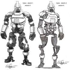 concept ships: Battlestar Galactica concept ships by Richard Livingston