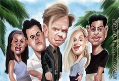 CSI Miami cast Caricature by ~nelsonsantos on deviantART