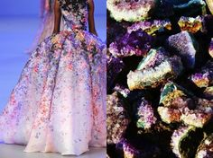 Fashion & Nature, an amazingly beautiful source of inspiration by Liliya Hudyakova. l Elie Saab Haute Couture S/S 2014 & Crystals. l #fashion #nature