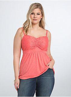 16dc449482b Plus Size Crochet Babydoll Tank Top