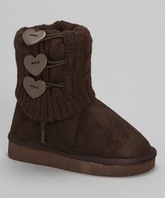 Look what I found on #zulily! Brown Knit Bambi Boot by Ameta Corporation #zulilyfinds
