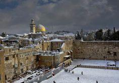 Snow in Jerusalem!
