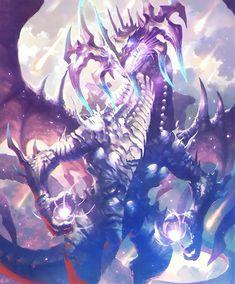 ドラゴンと楽器モード(演奏している間はドラゴンになれる。) Fantasy Demon, Fantasy Beasts, Fantasy Monster, Monster Art, Dark Fantasy Art, Fantasy Artwork, Mythical Creatures Art, Fantasy Creatures, Fantasy Character Design