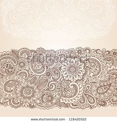 Henna Flowers and Paisley Mehndi Tattoo Edge Design Doodle- Abstract Floral Vector Illustration Design Elements - stock vector Paisley Doodle, Henna Doodle, Henna Art, Doodle Tattoo, Mehndi Art, Mehndi Tattoo, Lace Tattoo, Henna Tattoo Designs, Mehndi Designs